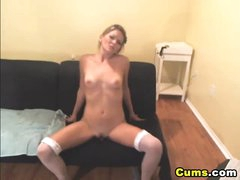 Golden-haired Intensive Dildo Penetration HD