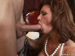 Deauxma is a hot MILF who loves putting juicy dick in her throat