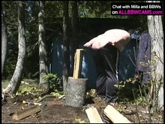Fat bitch milla monroe masturbating outdoors