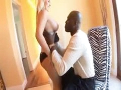 Chubby white lover girl blows his black meat