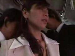 Japanese Beauty Forced On Train