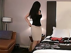 Desiree thoroughly preparing her ass and snatch before sex