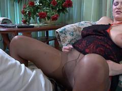 Emily&Benjamin mature pantyhose clip