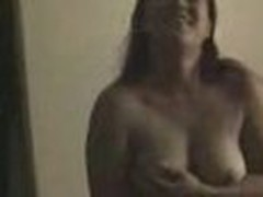 Overweight fem plays on cam