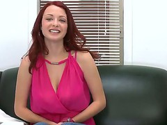 Red headed chick with an amazing body Jessica Rabbit showing her amazing titties
