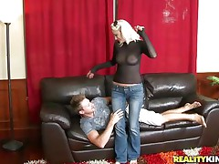 holly hart got hunted by a sexually excited guy!