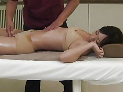 sexy babe gets a unusual massage