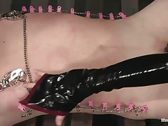 cock torture for bound pain slave