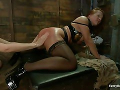 two ladies with perfect asses having a kinky lesbian love