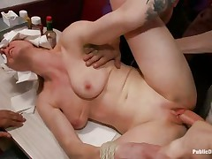 beretta james and her friend get screwed in a diner