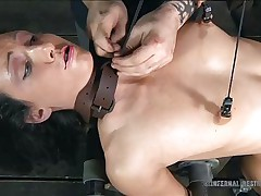 getting her pussy soaked in a bdsm session