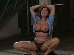 Britney Amber receives tied constricted and fucked hard