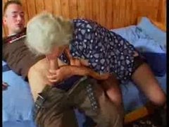 Busty German Granny fucks juvenile Guy