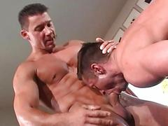 Hot looking man licks his juicy asshole