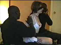 Promiscuous married woman getting her sex hunger satisfied by dark stallions