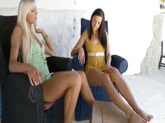 luxury teens testing big vibrator