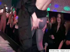Lustful babes relax on dance night party
