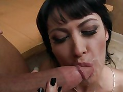 Eva Karera is treated to a warm filthy facial