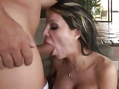 Danielle Derek throat fucks a inflexible skin flute