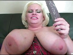 Busty Mature Plays With A Beaver