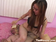 Sweet asian babe loves fucking sweet dicks