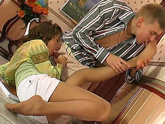 Bridget&Patrick mindblowing nylon feet action