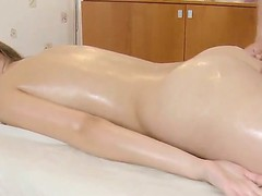Horny Dusya enjoys juch more than just a masage from this sexually excited male