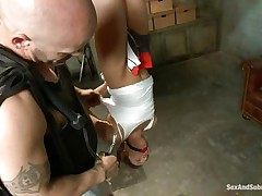 sex slave eva fenix obeys derrick pierce's dark desires