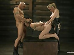 hawt milf gets double penetrated in rope thraldom