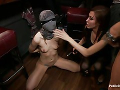 lady in mask gets punished