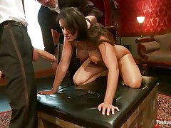 brunette bitch gets fucked but wants to suck