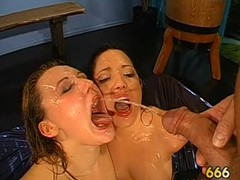 Wet oral with titty fuck