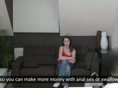 Smoking hawt chick undresses and is asked to masturbate wildly