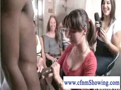 cfnm mils discovering the balck cock loves to jerk it