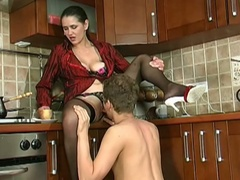 Young guy gets seduced by a milf