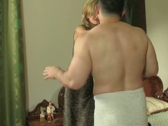 Cheating european boyfriend gets busty with panties in his pocket