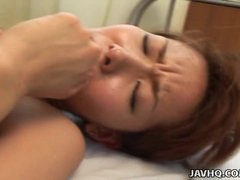 Sexy nurse Aya Inazawa nailed hard