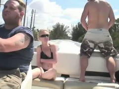 Lewd blonde bombshell scarlett summers outdoor fucking adventure