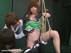 Japanese bondage sex with extreme bdsm castigation