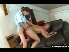 Well hung uncut stud fucks super tight ass bareback