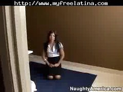Sexy Latina Fucked Hard In The Bathroom latina cumshots latin swallow brazilian mexican spanish