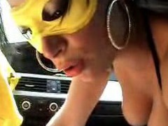 Fucking In The Car With A Mask On