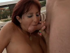 Levi Cash pounding hard Tara Holidays throat, she sucks great and gets thanked by ass and cunt lick and fuck!