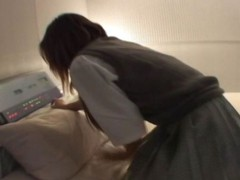 Hot little Oriental schoolgirl gets her hands tied and fucked in the dark