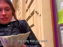 A mischievous dark brown Irina makes a