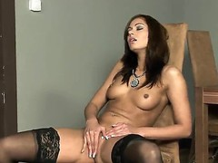 Sexy prostitute works her little clit