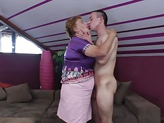youthful male fucking a mature cunt