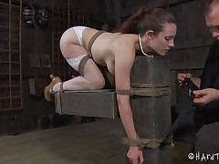 sexy body bitch tied and fake penis screwed