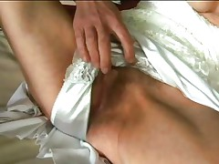 granny fingers herself and sucks a cock