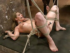 hanged upside down and pussy fisted